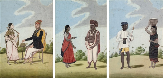 SIX COSTUME STUDIES, TANJORE S