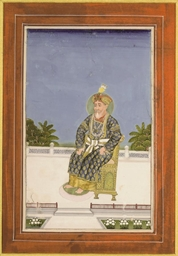 A SEATED RULER IN GOLD-PATTERN