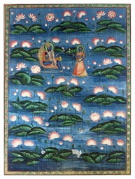 A PITCHWAI DEPICTING KRISHNA A