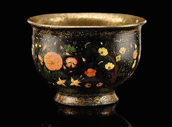 A LACQUER BOWL, KASHMIR OR IRA