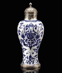 A KANGXI BLUE AND WHITE PORCEL