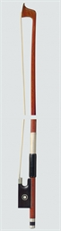 A SILVER-MOUNTED VIOLIN BOW, G
