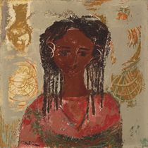 Face Of A Nubian Girl