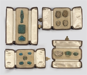 A GROUP OF EGYPTIAN AMULETS