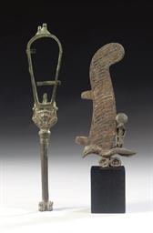 AN EGYPTIAN BRONZE SISTRUM