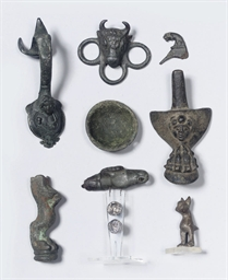 A GROUP OF MOSTLY ROMAN BRONZE