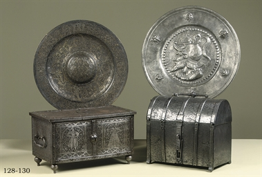 A FRENCH  IRON MISSAL BOX
