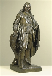 A bronze figure of Michiel de