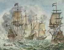 A British and Dutch naval battle