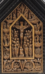 A CARVED BOXWOOD RELIEF OF THE
