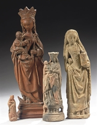 A TERRACOTTA GROUP OF THE VIRG