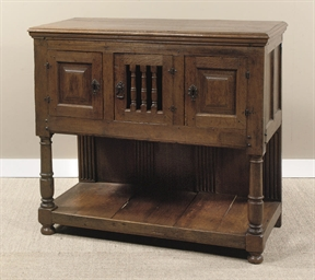 A NORTH EUROPEAN OAK SIDEBOARD