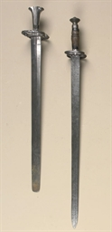 TWO GERMAN LANDSKNECHT SWORDS