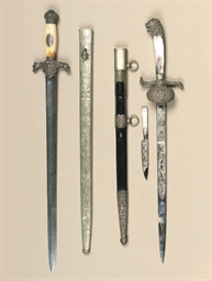 A DUTCH HUNTING SWORD; AND A B