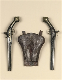 A PAIR OF TURKISH FLINTLOCK HO