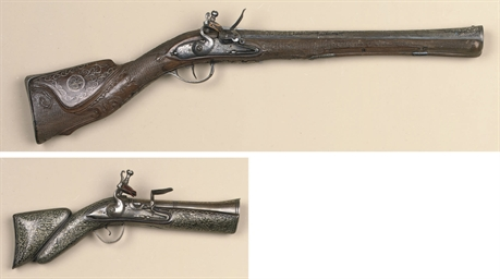 A TURKISH FLINTLOCK BLUNDERBUS