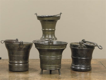 A BRONZE HOLY WATER BUCKET
