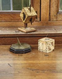 A FRENCH CUBE SUNDIAL