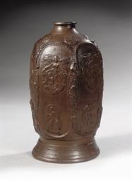 A Kreussen stoneware hexagonal
