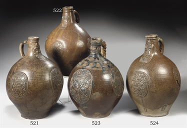 A Rhenish stoneware armorial B