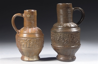 Two Rhenish stoneware jugs