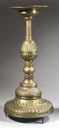 A NORTH EUROPEAN BRASS PRICKET
