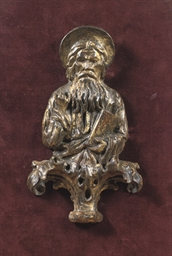 A GILTWOOD RELIEF OF A GOD THE