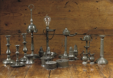 A COLLECTION OF VARIOUS PEWTER