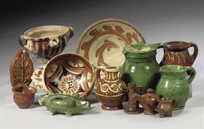 A COLLECTION OF EARTHENWARE OB