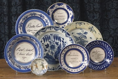AN ASSORTED LOT OF DUTCH DELFT