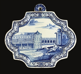 A DUTCH DELFT BLUE AND WHITE B