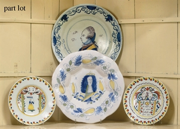 A DUTCH DELFT GADROONED ROYAL