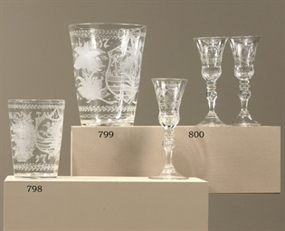 A DUTCH-ENGRAVED DATED GLASS B