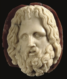 AN AGATE CAMEO OF ZEUS-SERAPIS