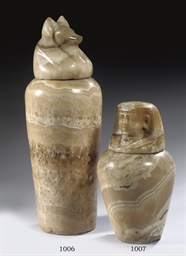 AN EGYPTIAN-STYLE ALABASTER CA
