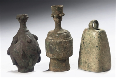 TWO POST-SASSANIAN FLASKS WITH