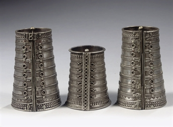 THREE SILVER WRISTCUFFS, TURKM