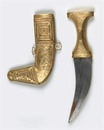 AN ARABIAN GOLD CEREMONIAL DAG