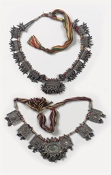 TWO SILVER NECKLACES, RAJASTHA