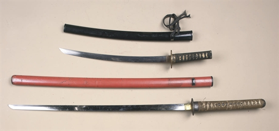 TWO JAPANESE SAMURAI SWORDS