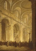 THE INTERIOR OF ST. PAUL'S CATHEDRAL, LONDON