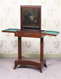 A DUTCH MAHOGANY SHAVING TABLE