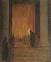 ENTERING THE CATHEDRAL AT NIGHT