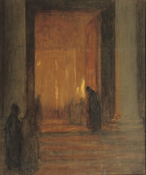 ENTERING THE CATHEDRAL AT NIGH