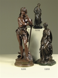 A FRENCH BRONZE FIGURE OF A FE