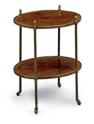 A BRASS MOUNTED MAHOGANY ETAGE