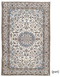 A fine Nain rug & unusual Turk