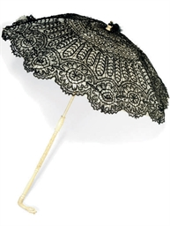 A LACE AND IVORY PARASOL