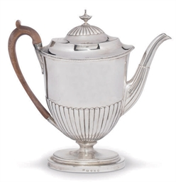 A GEORGE III SILVER VASE-SHAPE