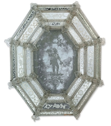 A VENETIAN MOULDED AND ETCHED